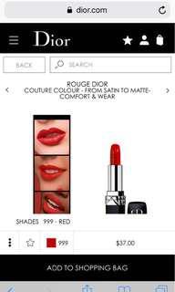 Dior Rouge - 999 Matte