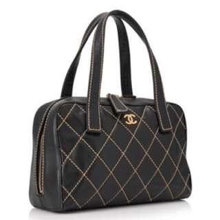 Chanel Vintage Quilted Wild Stitch Bag