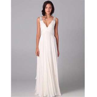 (Size 10) White Formal Gown