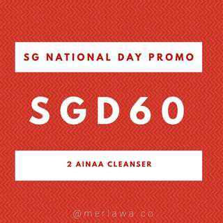 Ainaa Cleanser NDP Promo