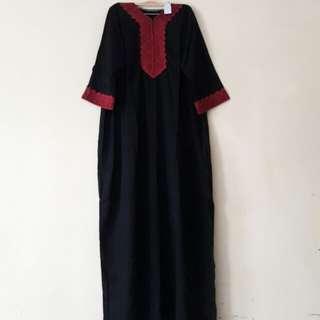 Gamis Renda / Daster Arab Renda Red (lengan 3/4)