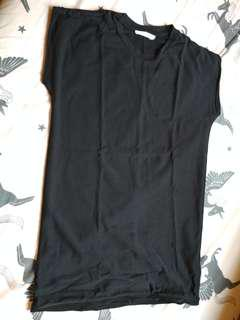 ZARA Black Muscle Sleeveless Shirt