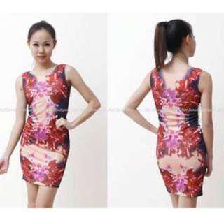 Bodycon Floral Dress