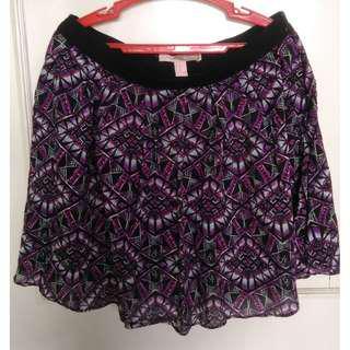 Forever 21, Purple Patterned Skirt