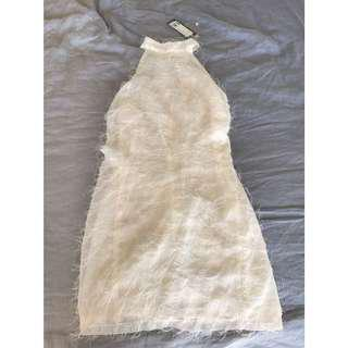 MINT FLUFFY DRESS BNWT