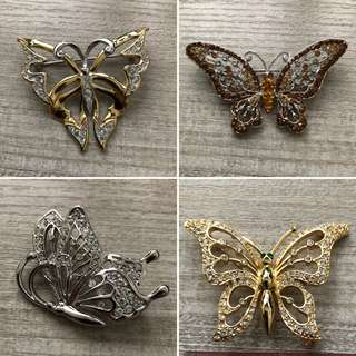 Butterfly Pin / Accessorises /Brooch 4pc only $50