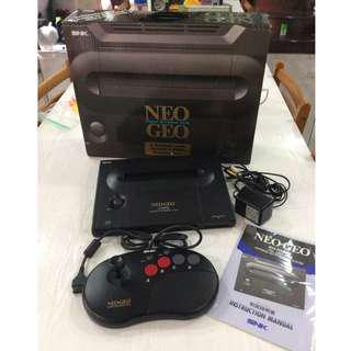 Neo Geo AES Console Japan Version with 6 Game Cartridge complete with Box & Manuals