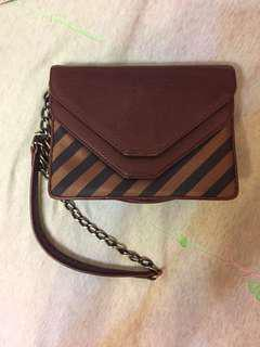 Initial leather bag