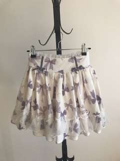 Japan Lilac ribbons skirt with Skort lining