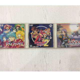 PC Engine CD-Rom Games set of 3 Japan