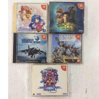 Sega Dreamcast CD Games Japanese set of 5