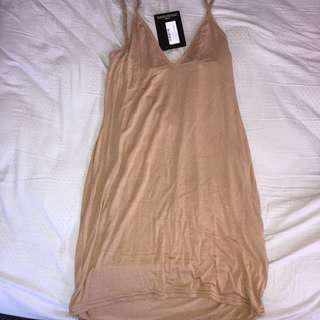 Nude prettylittlething dress
