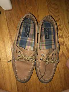 women's sperry boat shoes size 6 worn 3 times