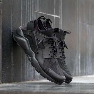 🚚 保證正品 ✨ nike air huarache run ultra 氣墊 輕量版 武士鞋 全黑 男 運動鞋