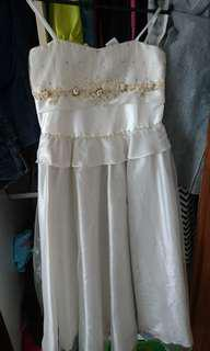 White gown dress for girl