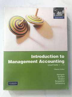 Introduction to Management Accounting 15th Edition
