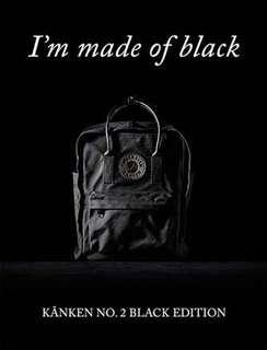AUTHENTIC FJALLRAVEN KANKEN NO. 2 BLACK EDITION