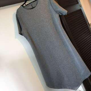 UK12 UK14 UK16 Grey Hi Lo Dress