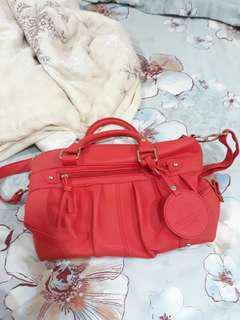 🚚 紅色包包 手提包 斜背包