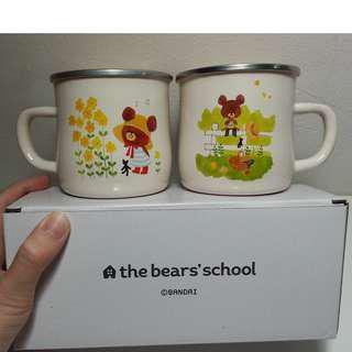 小熊學校琺瑯杯組