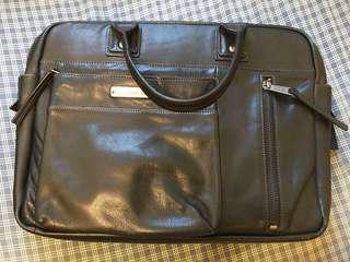 Calvin Klein Jeans Leather Bag in Black
