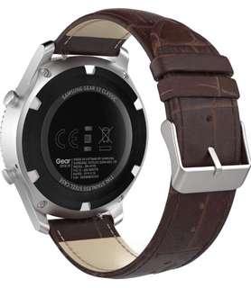(911) MoKo Premium Soft Genuine Leather Crocodile Pattern Replacement Strap for Samsung Gear S3