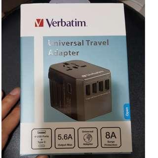 威寶 Verbatim 5 Ports QC 3.0 萬用旅行充電器USB *4 Type C- 太空灰