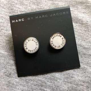 Marc by Marc Jacobs Sample Earrings 白色撞銀色耳環