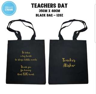 Preschool and primary school Teachers day totebag with name print