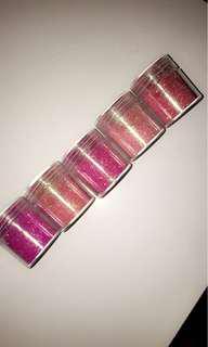 Pink cosmetic glitter