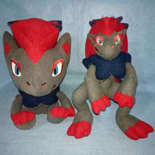 Pokemon ZORUA & ZOROARK plushies