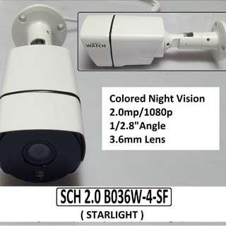 Smart Watch Colored Night Vision 2MP Bullet Camera