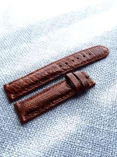 Genuine Ostrich Leg Leather Brown 20mm watch strap for Rolex Omega JLC Grand Seiko etc