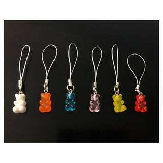 1x cute tiny 16mm gummy bear charms 16mm gummy bear charm