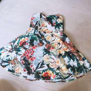 Purpur Floral Tube Dress