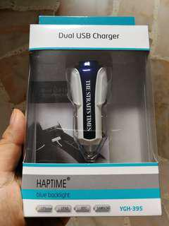 Car Dual USB Charger - Free mailing with bless