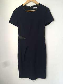 Marcs Navy Dress with black trim