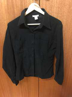 Black Suede Shirt