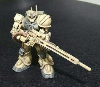 SOG盒蛋 渣古 上色完成品 Zaku 絕版 極罕 狙擊手 只此一隻 高達 gundam  模型 手辦 手辨 非 rg hg mg pg  龍珠 星矢 裝甲騎兵