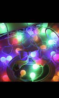 Colorful fairy lights