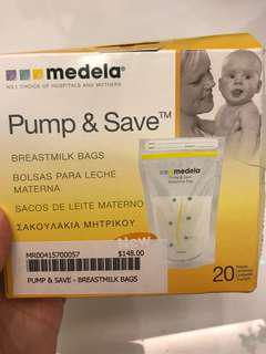 Milk Storage Bag(Medela) price reduced to clear