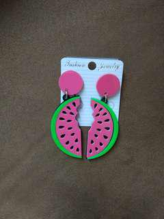 Anting acrylic (watermelon)