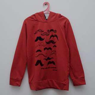Mustaches Red Hoodie