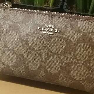 AUTHENTIC COACH DOUBLE ZIP WALLET WILL SEND YOUR MONEY BACK IF FAKE!!!
