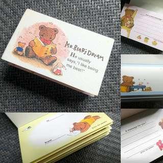 絕版Mr.Bear's Dream Memo Paper