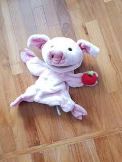 Gund pig hand puppet