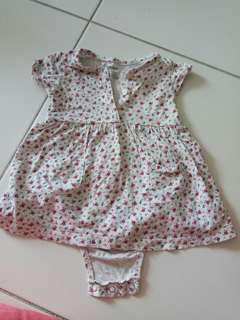 Carters Girl Set Rompers skirt