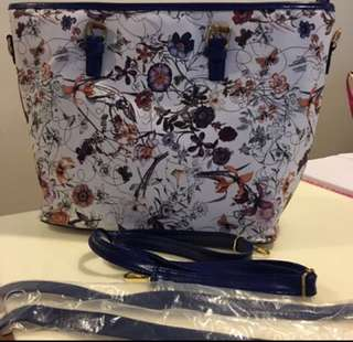Ladies Handbag with floral design