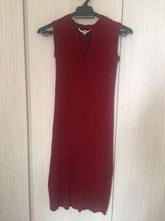 Maroon Dress #August75