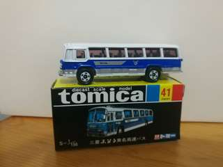 全新絕版tomica 黑黃盒 mitsubishi fuso bus